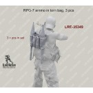 RPG-7 ammo in torn bag, 3 pcs