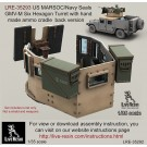 US MARSOC/Navy Seals GMV-M Six Grain Turret with hand made ammo cradle back version. Set includes turret only, not a shield and weapons. Recommend to use with all range Live Resin weapons