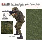 Easy Camo Decals - Modern Russian Digial camo for field uniform (dark green) The best results are achieved with a decal softener and fixing set