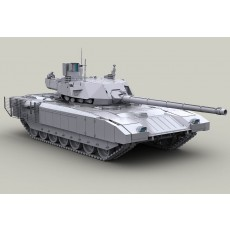 T-14 Armata Modern Russian Main Battle Tank. High realstic model 1/48 scale