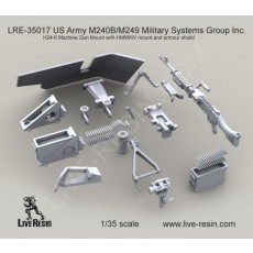 M240B Military Systems Group Inc.  H24-6 Machine Gun Mount with HMMWV mount and armour shield
