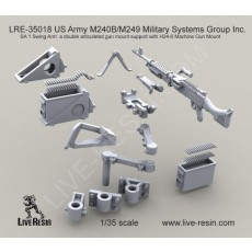 M240B-M249 Military Systems Group Inc.  SA 1 Swing Arm a double articulated gun mount support with H24-6 Machine Gun Mount