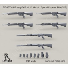 US Navy/SOF Mk 12 Mod 0/1 Special Purpose Rifle (SPR)
