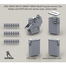 MK19-3/MK47 MK93 Multi-Purpose Ammo Can Holder and PA70 60 mm ammo cans, ammo belts