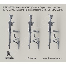 MAG 58 GSMG (General Support Machine Gun), L7A2 GPMG (General Purpose Machine Gun), C6  GPMG, etc.
