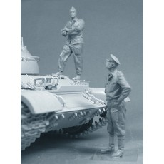 """""""Iron curtain"""" Soviet tank T-54,T-55,T-62,T-64,T-72 and so forth (Summer of the '60s-' 80s) Two figures in set. Pre sale - shipping in two weeks"""
