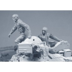 """Modern Russian tank crew in uniform """"Ratnik"""" for the T-72, T-80, T-90 and so forth. Two figures and one bust in set. Pre sale - shipping in two weeks"""