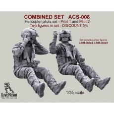 COMBINED SET   Helicopter pilots set - Pilot 1 and Pilot 2. Two figures in set LRM-35048, LRM-35049 - DISCOUNT 5%