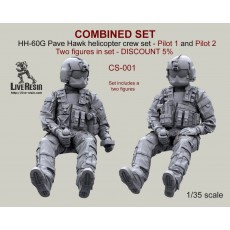 COMBINED SET - HH-60G Pave Hawk helicopter crew set - Pilot 1 and Pilot 2 Two figures in set - DISCOUNT 5%