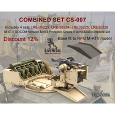 Combined set CS-007 Includes 4 sets LRE-35223, LRE-35224, LRE35225, LRE35226  M-ATV SOCOM Version M153 Protector Crows II with M240 complete set, discount 10%, base fit to RFM M-ATV model