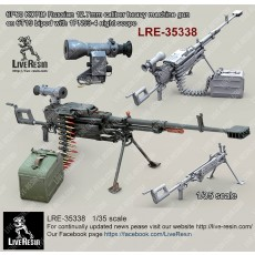 6P60 KORD Russian 12.7mm calibre heavy machine gun on 6T19 bipod with 1PN93-4 night scope