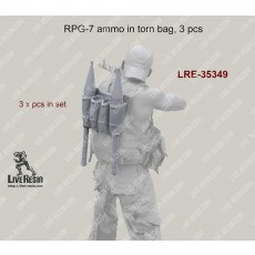 RPG-7 ammo in torn bag, 3 pcs