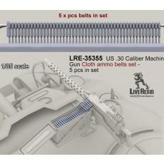 US .30 Caliber Machine Gun Cloth ammo belts set - 5 hcs in set