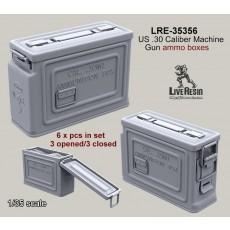 US .30 Caliber Machine Gun ammo boxes 3 opened/3 closed
