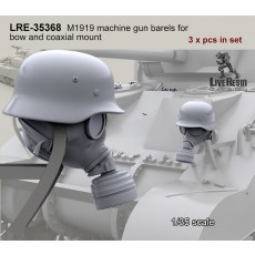 Sherman tank headlight camo - German gasmask and helmet