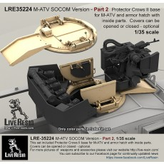 M-ATV SOCOM Version upgrade. Part 2 - Protector Crows II base for M-ATV and armor hatch with inside parts.