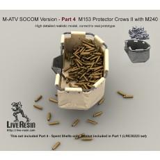 M-ATV SOCOM Version upgrade. Part 4 - Spent shells poured on Crows II basket and scattered