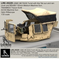 MCTAGS - Marine Corps Transparent Armored Gun Shield USMC Turret with  Ibis Tek sun and rain cover and M240B 7.62mm Medium Machine Gun. M240B Machine gun is included.