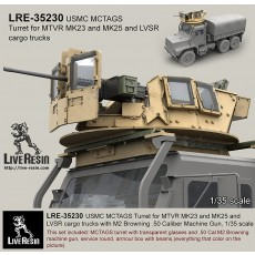 MCTAGS - Marine Corps Transparent Armored Gun Shield USMC Turret for MTVR MK23 and MK25 and LVSR cargo trucks. M2 Machine gun is included.