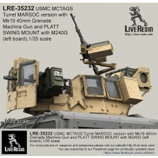 MCTAGS - Marine Corps Transparent Armored Gun Shield USMC Turret MARSOC version with Mk19 and PLATT SWING MOUNT with M240G