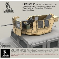 MCTAGS - Marine Corps Transparent Armored Gun Shield USMC Turret with M2 Browning .50 Caliber Machine Gun. M2 Machine gun is included.