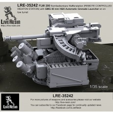 FLW 200 Eernbedienbare Waffenstation (REMOTE CONTROLLED WEAPON STATION) with GMG 40 mm H&K Automatic Grenade Launcher on low turret for Leopard2A7 - Leopard 2PSO, Boxer GTK, Dingo 2, etc