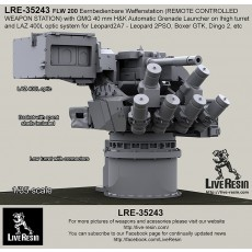 FLW 200 Eernbedienbare Waffenstation (REMOTE CONTROLLED WEAPON STATION) with GMG 40 mm H&K Automatic Grenade Launcher on high turret for Leopard2A7 - Leopard 2PSO, Boxer GTK, Dingo 2, etc