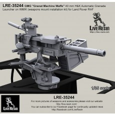 """GMG """"Granat Machine Waffe"""" 40 mm H&K Automatic Grenade Launcher on WMIK (weapons mount installation kit) for Land Rover RAF"""