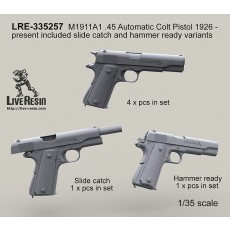 M1911A1 .45 Automatic Colt Pistol 1926 - present included slide catch and hammer ready variants