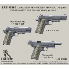 Colt M45A1 M1070CQBP MARSOC .45 pistol, slide catch and hammer ready version