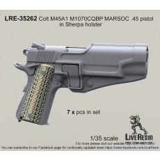 Colt M45A1 M1070CQBP MARSOC .45 pistol in Sherpa holster