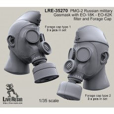 PMG-2 Russian military Gasmask with EO-18K - EO-62K filter and Forage Cap