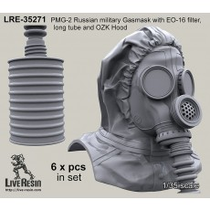 PMG-2 Russian military Gasmask with EO-16 filter, long tube and OZK Hood
