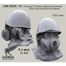 "PBF ""Hamster"" Russian airborne Gasmask, OZK hood and Ssh-68 helmet"