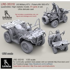 US Military ATV - Polaris MV 850 ATV quadrobike. High realistic model, 57 parts in set. Ultra delicate cast