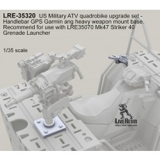 US Military ATV quadrobike upgrade set - upgrade set - Handlebar GPS Garmin ang heavy weapon mount base. Recommend for use with LRE35070 Mk47 Striker 40 Grenade Launcher