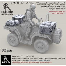 US Military ATV quadrobike upgrade set - Front and rear stowage 1 - ammo boxes, canister, backpack and heavy weapon base mount