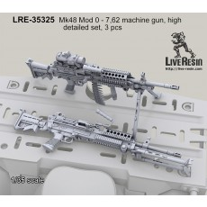 Mk48 Mod 0 - 7,62 machine gun, high detailed set, 3 pcs