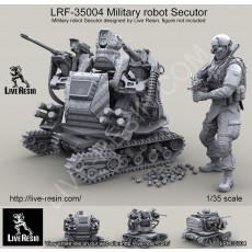 Military robot Secutor II. Military robot, designed by Live Resin, more than 100 parts in set
