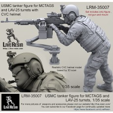 USMC tanker figure for MCTAGS and LAV-25 turrets with CVC helmet.