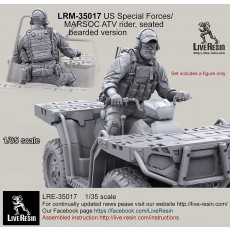 US Special Forces/MARSOC ATV rider, seated, bearded version