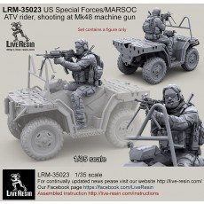 US Special Forces 2013 - modern ATV rider, Mk48 machine gun shooting