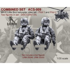 COMBINED SET   MH-6 Little Bird helicopter pilots set - Pilot 1 and Pilot 2. Two figures in set LRM-35049, LRM-35050 - DISCOUNT 5%