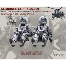 COMBINED SET   MH-6 Little Bird helicopter pilots set - Pilot 1 and Pilot 2. Two figures in set LRM-35049, LRM-35050 - DISCOUNT 5%