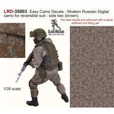 Easy Camo Decals - Modern Russian Digial camo for reversible suit - side two (brown) The best results are achieved with a decal softener and fixing set