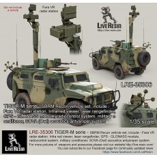 TIGER-M serie - SBRM Recon vehicle set, include - Fara VR radar station, Infra red viewer, laser rangefinder, GPS - GLONASS module, radiocontrol system, military conditioner, SOVA (Owl) acoustics antysniper system