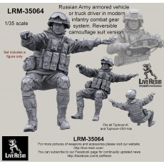 Russian Army armored vehicle or truck commander in modern infantry combat gear system set 17. Reversible camouflage suit version. Fits all Typhoon-K and Typhoon-VDV kits