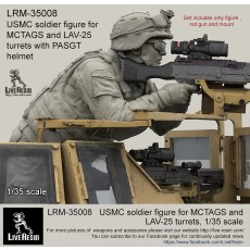 USMC soldier figure for MCTAGS and LAV-25 turrets with PASGT helmet.