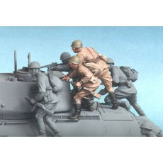 Soviet motor rifle troops №2. Summer 1943-45.  Two figures.