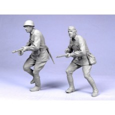 Soviet infantry 1942 №2. Two figures.